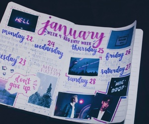 aesthetic, calligraphy, and january image
