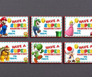 etsy, super mario bros, and valentine cards image
