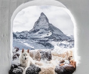 mountain, photography, and snow image