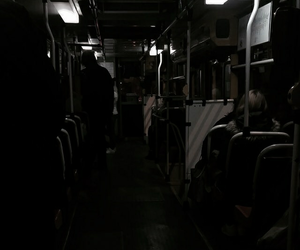 aesthetic, bus, and black image