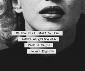 quotes, live, and Marilyn Monroe image