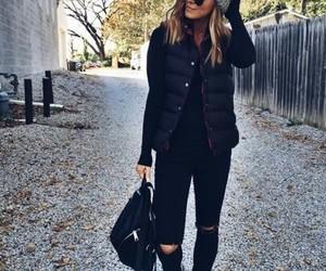 black, fashion, and winter image