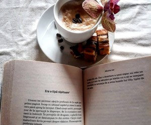 book, coffee, and peace image