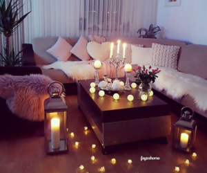candles, cosy, and house image
