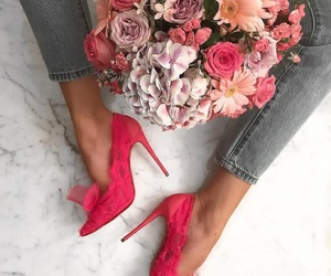 fashion, flowers, and shoes image
