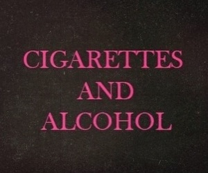 alcohol, cigarette, and aesthetic image
