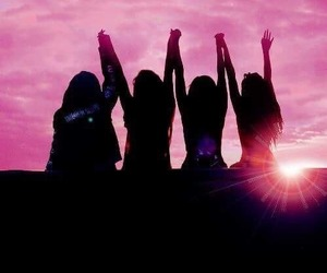 little mix, pink, and friendship image