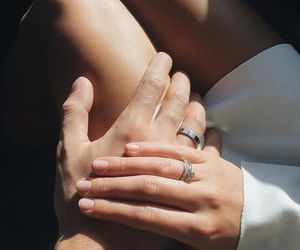 couple, hands, and love image