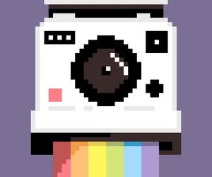 pixel, rainbow, and drawing image