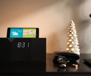 alarm clock, white noise, and wake up light image