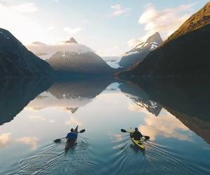 mountains, nature, and adventure image