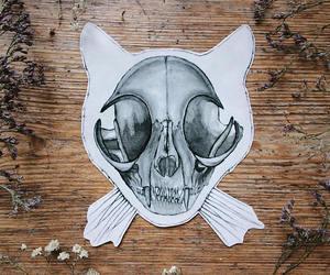cat, etsy, and skeleton image