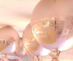 balloons, rosegold, and gold image