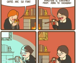 funny, harry potter, and comics image