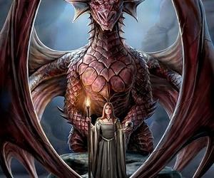 dragon, girl, and nice image