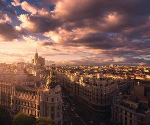madrid, spain, and sky image