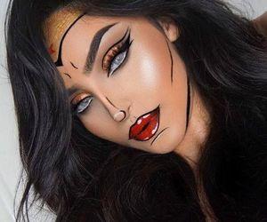makeup, Halloween, and wonder woman image