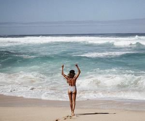 beach, body, and sun image