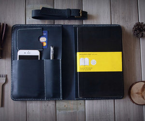 etsy, leather, and moleskine image