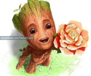 groot, baby, and flower image