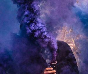 man, mist, and purple image