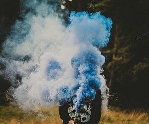 blue, smoke, and boy image