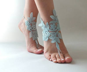 etsy, beach wedding, and white lace sandals image