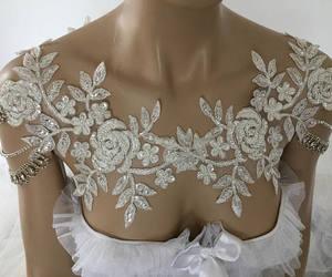 etsy, lace shoulder, and wedding shoulder image