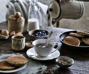 breakfast, tea, and vintage image