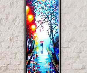 etsy, red umbrella, and romantic painting image