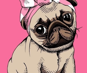 dog, wallpaper, and pink image