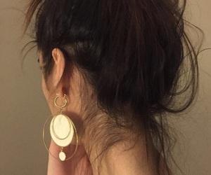 girl, hair, and earrings image