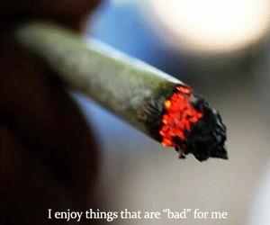 bad, smoke, and weed image