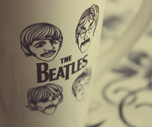beatles and cup image
