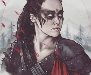 art, lexa, and the 100 image