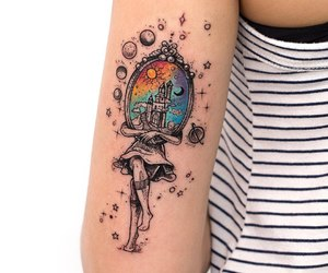 art, tatto, and tattoo art image