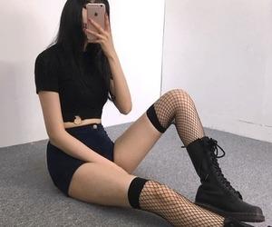 black, grunge, and kstyle image