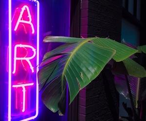 art, neon, and tumblr image