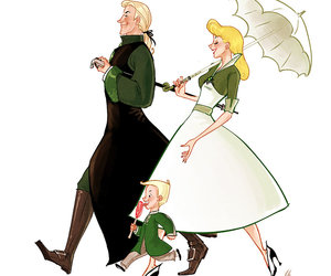 malfoy, family, and harry potter image