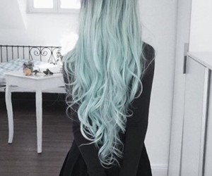 hairstyle, blue, and hair image