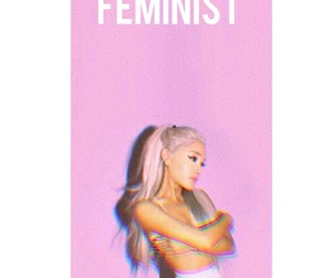 feminist, wallpaper, and ariana image