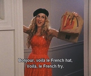sex and the city, Carrie Bradshaw, and french image