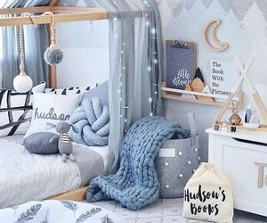 bedroom, blue, and baby image