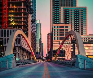 bridge, colors, and evening image