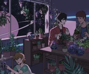 boy and plants image