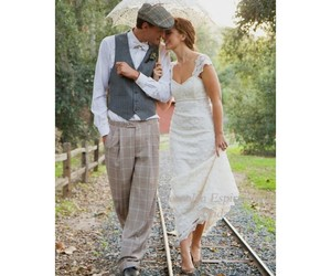 bridal, dress, and inspired image