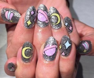 kawaii, nails, and manicure image