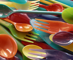 aesthetic, colorful, and forks image