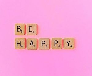 pink, happy, and be happy image