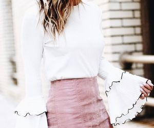 pink, skirt, and style image